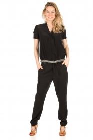 IKKS | Zijden pussybow blouse Lucille | zwart  | Afbeelding 3