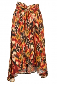 Louizon |  Printed midi skirt Touzek | red  | Picture 1