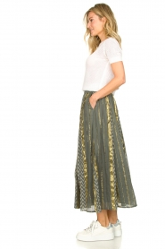 Louizon |  Maxi skirt Howler | green  | Picture 4