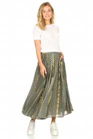 Louizon |  Maxi skirt Howler | green  | Picture 3