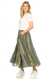 Louizon |  Maxi skirt Howler | green  | Picture 2