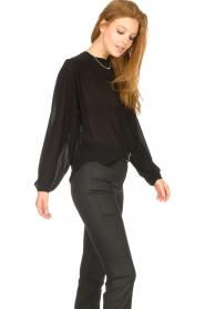 Aaiko    Transparent blouse Zoya   black    Picture 6