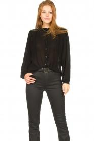Aaiko    Transparent blouse Zoya   black    Picture 4