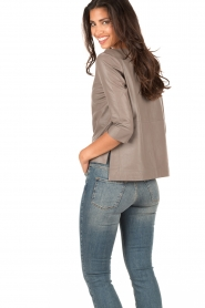 Ruby Tuesday | Leren top Raquel | taupe  | Afbeelding 5