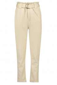 Aaiko |  Faux leather pants Pamalla | natural  | Picture 1