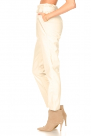 Aaiko |  Faux leather pants Pamalla | natural  | Picture 5