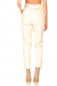 Aaiko |  Faux leather pants Pamalla | natural  | Picture 6