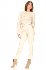 Aaiko |  Faux leather pants Pamalla | natural  | Picture 3
