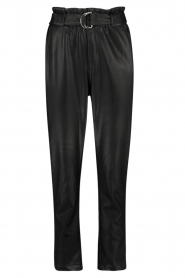 Aaiko |  Faux leather broek Pamalla | black  | Picture 1