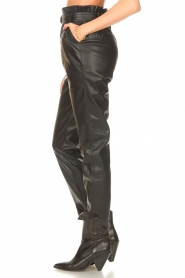 Aaiko |  Faux leather broek Pamalla | black  | Picture 6