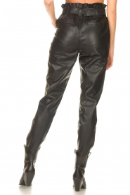 Aaiko |  Faux leather broek Pamalla | black  | Picture 7