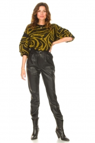 Aaiko |  Faux leather broek Pamalla | black  | Picture 3