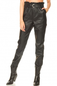 Aaiko |  Faux leather broek Pamalla | black  | Picture 5