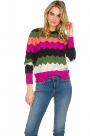 Essentiel Antwerp |  Zigzag sweater Susan | multi  | Picture 4