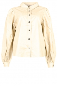 Aaiko |  Faux leather blouse Taliana | natural  | Picture 1