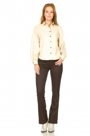 Aaiko |  Faux leather blouse Taliana | natural  | Picture 3