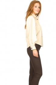 Aaiko |  Faux leather blouse Taliana | natural  | Picture 6