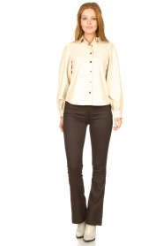 Aaiko |  Faux leather blouse Taliana | natural  | Picture 4