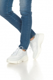 Essentiel Antwerp |  Chunky platform sneakers Slave | white   | Picture 3
