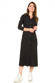D-ETOILES CASIOPE |  Travelwear midi dress Valerie | black  | Picture 2