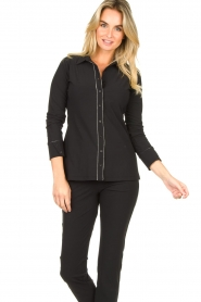 D-ETOILES CASIOPE |  Travelwear blouse Verona | black  | Picture 4