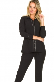 D-ETOILES CASIOPE |  Travelwear blouse Verona | black  | Picture 2