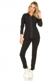 D-ETOILES CASIOPE    Travelwear blouse Verona   black    Picture 3
