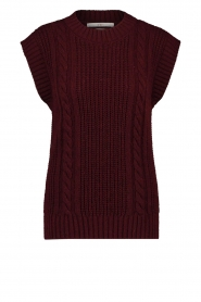 Aaiko |  Knitted sweater Anneli | bordeaux  | Picture 1