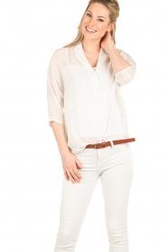 IKKS | Semi-sheer blouse  Chemise | wit  | Afbeelding 2