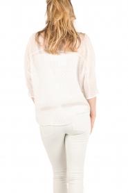 IKKS | Semi-sheer blouse  Chemise | wit  | Afbeelding 4
