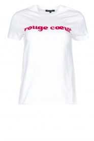 Tara Jarmon |  T-shirt Rouge Coeur | white  | Picture 1