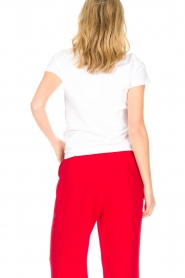 Tara Jarmon |  T-shirt Rouge Coeur | white  | Picture 6