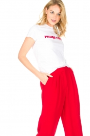 Tara Jarmon |  T-shirt Rouge Coeur | white  | Picture 4
