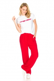 Tara Jarmon |  T-shirt Rouge Coeur | white  | Picture 3