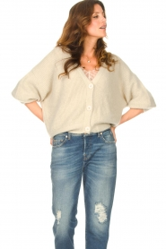 Aaiko |  Knitted cardigan with buttons Malani | beige  | Picture 4