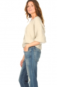 Aaiko |  Knitted cardigan with buttons Malani | beige  | Picture 6
