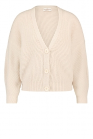 Aaiko |  Knitted cardigan with buttons Malani | beige  | Picture 1