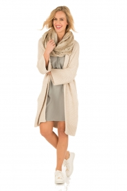 Aaiko |  Silk tunic Carmel | grey  | Picture 3