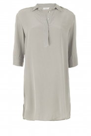 Aaiko |  Silk tunic Carmel | grey  | Picture 1
