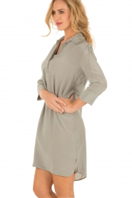 Aaiko |  Silk tunic Carmel | grey  | Picture 4