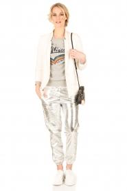 IKKS | Zilveren pantalon Susana | zilver  | Afbeelding 3