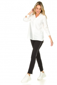 D-ETOILES CASIOPE |  Travelwear trousers Virgenie | white  | Picture 2