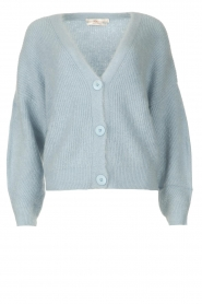 Aaiko |  Knitted cardigan Malani | blue  | Picture 1