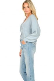 Aaiko |  Knitted cardigan Malani | blue  | Picture 5