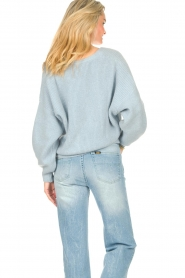 Aaiko |  Knitted cardigan Malani | blue  | Picture 6