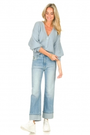 Aaiko |  Knitted cardigan Malani | blue  | Picture 3
