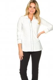 D-ETOILES CASIOPE    Travelwear blouse Verona   white    Picture 4