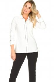 D-ETOILES CASIOPE    Travelwear blouse Verona   white    Picture 5
