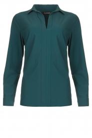 D-ETOILES CASIOPE |  Travelwear blouse Veritas | blue  | Picture 1