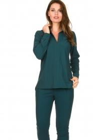 D-ETOILES CASIOPE |  Travelwear blouse Veritas | blue  | Picture 4